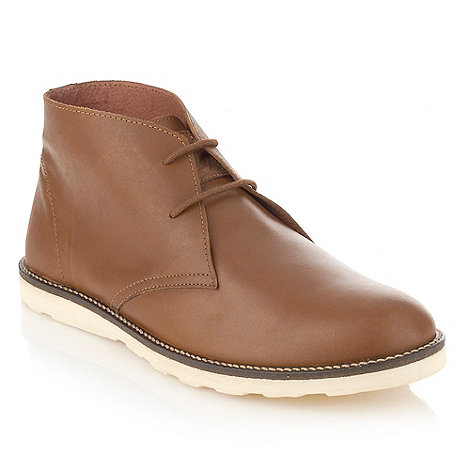 Frank Wright - Tan leather high top shoes