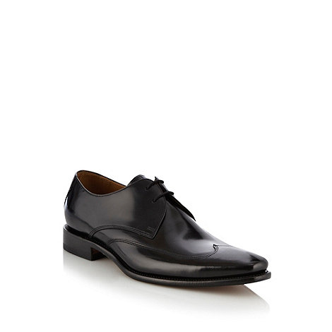 Loake - Black glazed leather pointed shoes