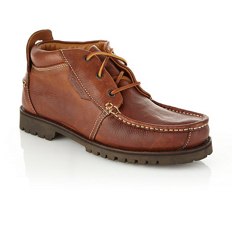 Chatham Marine - Brown chunky apron front shoes
