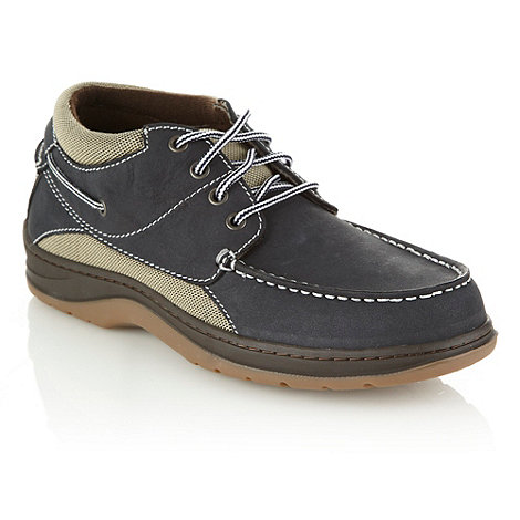 Chatham Marine - Navy suede panelled boat shoes