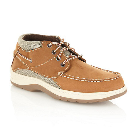 Chatham Marine - Tan suede panelled boat shoes