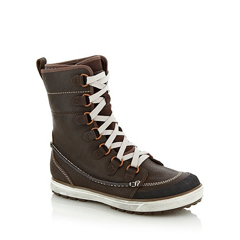 Merrell - Chocolate brown waterproof leather boots