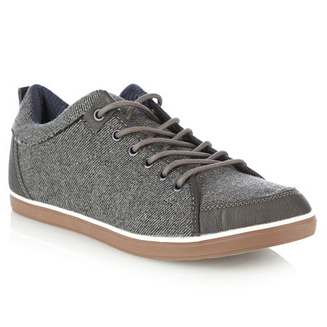 Call It Spring - Grey diagonal textured trainers