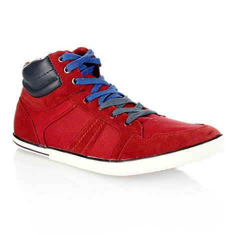 Aldo - Red canvas high top trainers