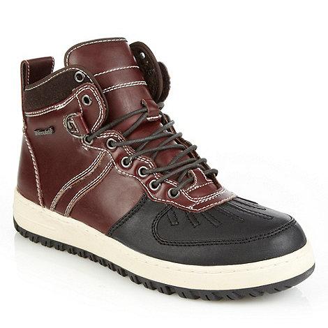 Aldo - Wine +Finerty+ panel walking boots