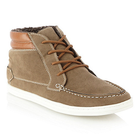 Aldo - Brown faux suede high top shoes