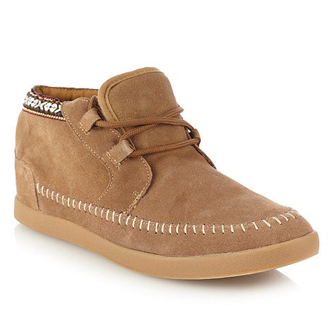 Aldo - Tan moccasin trimmed high top shoes