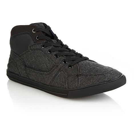 Aldo - Dark grey +Gough+ canvas trainers