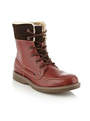 Dark red Pulfer boots
