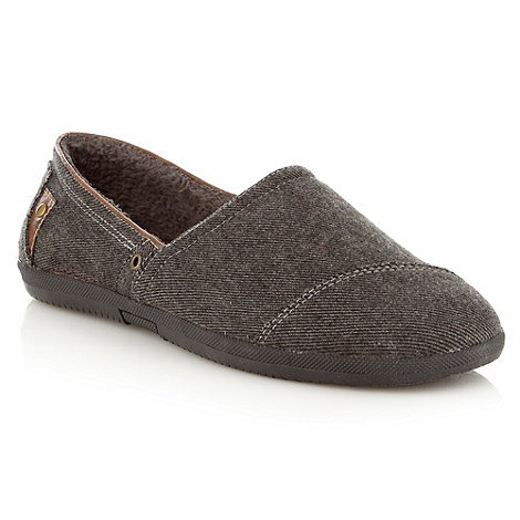 Call It Spring - Grey diagonal textured slip-on shoes