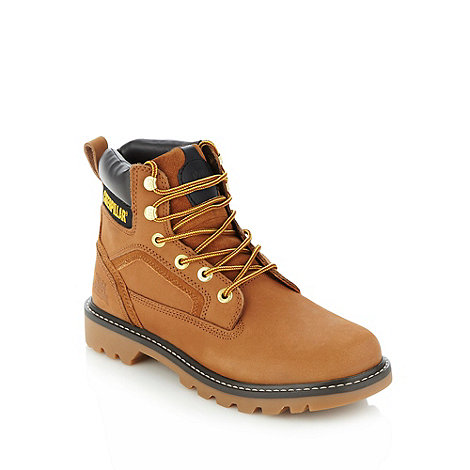 Caterpillar - Brown padded leather ankle boots