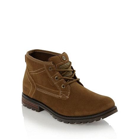 Caterpillar - Beige slip resistant work boots