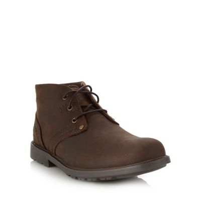 Caterpillar Brown leather ankle boots - . -