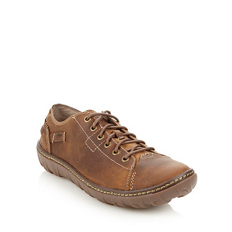 Caterpillar - Brown chunky soled lace up shoes