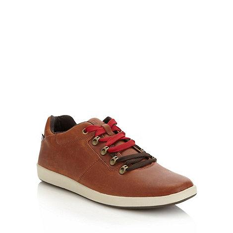 Caterpillar - Brown +Roarke+ leather trainers
