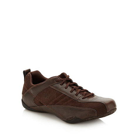 Caterpillar - Brown +Deploy+ leather trainers