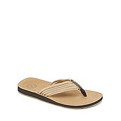 Mantaray - Beige plaited strap flip flops