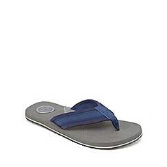 Mantaray - Grey perforated flip flops