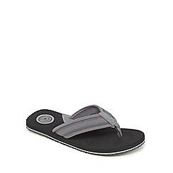 Mantaray - Black perforated flip flops