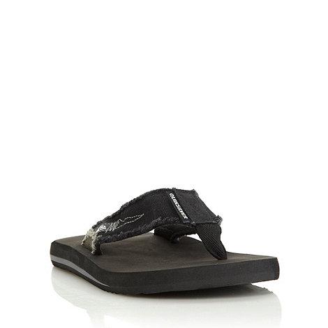 Quiksilver - Black canvas flip flops