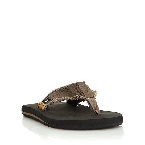 Quiksilver - Brown canvas flip flops
