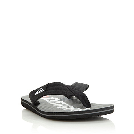 Quiksilver - Black canvas striped flip flops