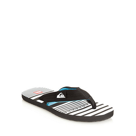 Quiksilver - Black striped flip flops