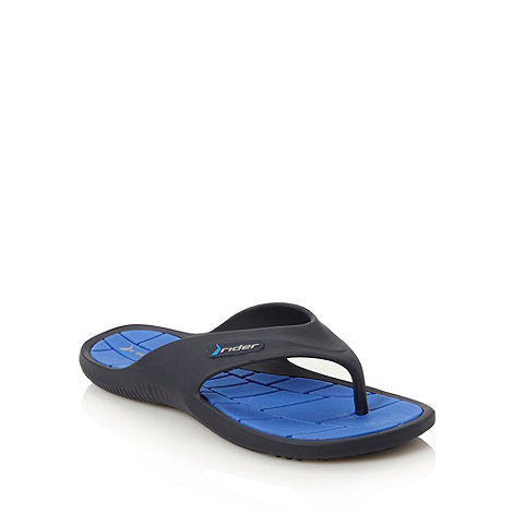 Rider - Blue rubber toe post flip flops