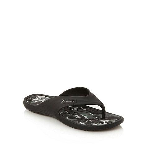 Rider - Near black camouflage flip flops