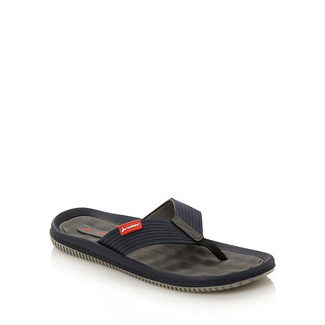 Rider - Navy textured toe post flip flops