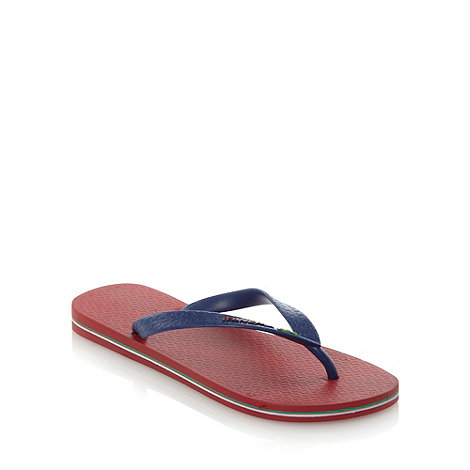 Ipanema - Wine flag strapped flip flops