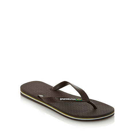 Ipanema - Brown flag strapped flip flops