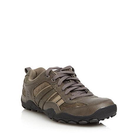 Skechers - Dark grey +Pebble Galeno+ trainers