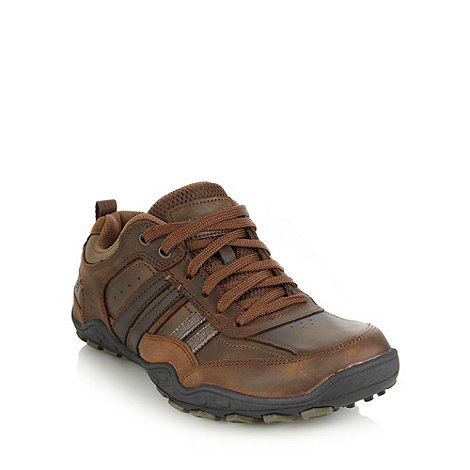 Skechers - Brown +Pebble Galeno+ trainers