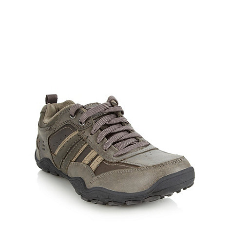 Skechers - Dark brown +Pebble Galeno+ trainers