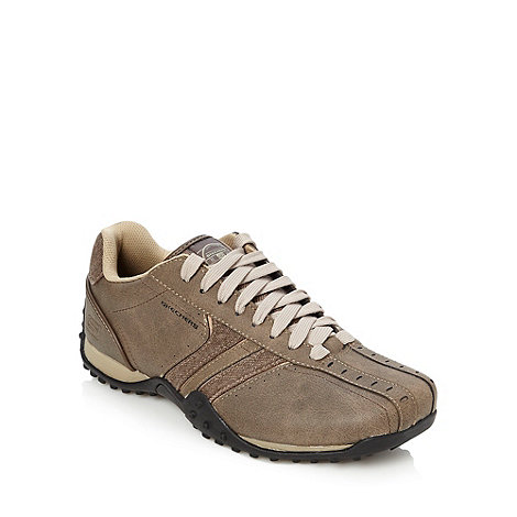 Skechers - Brown +Urban Track Forward+ trainers