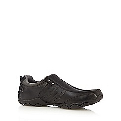 Skechers - Big and tall black 'diameter heisman' slip-on shoes