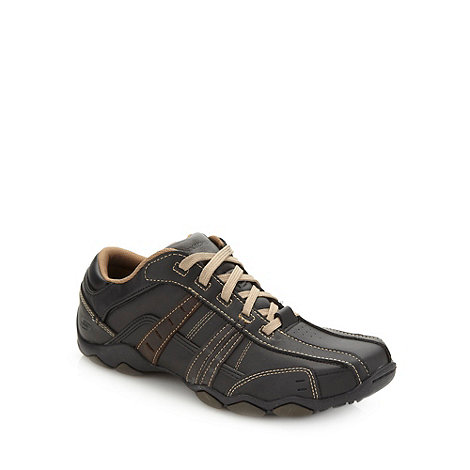 Skechers - Black +Diameter+ leather trainers