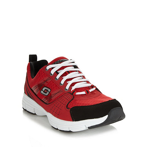 Skechers - Red lace up trainers