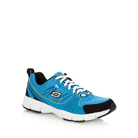 Skechers - Blue contrasting lace trainers
