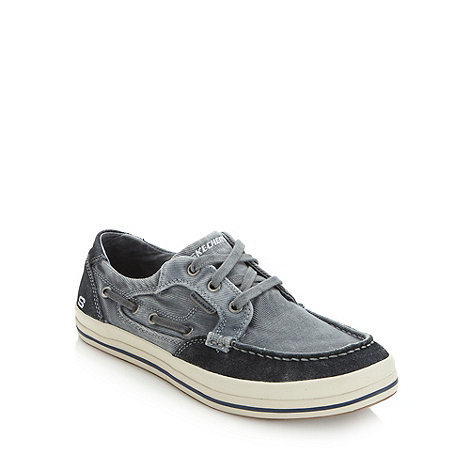 Skechers - Grey +Diamondback+ canvas trainers