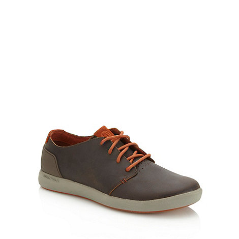 Merrell - Brown cushioned leather shoes