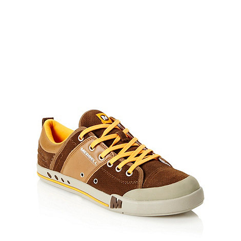 Merrell - Brown +Rant Whip+ suede trainers