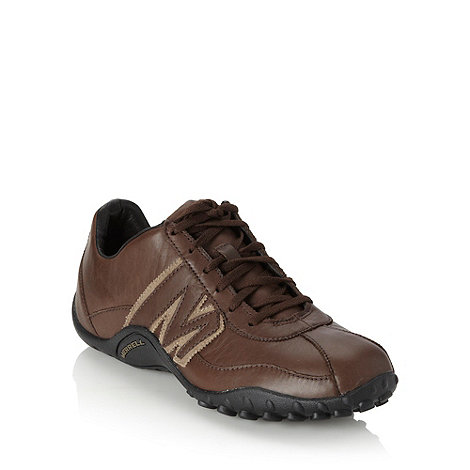 Merrell - Brown leather trainers
