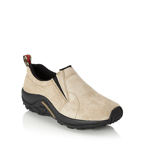 Merrell - Taupe curved soled suede shoes