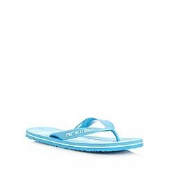 Animal - Blue oversized logo printed flip flops