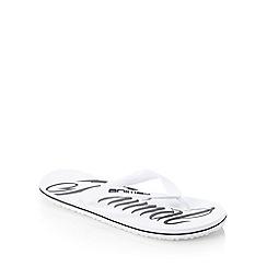 Animal - White logo printed flip flops