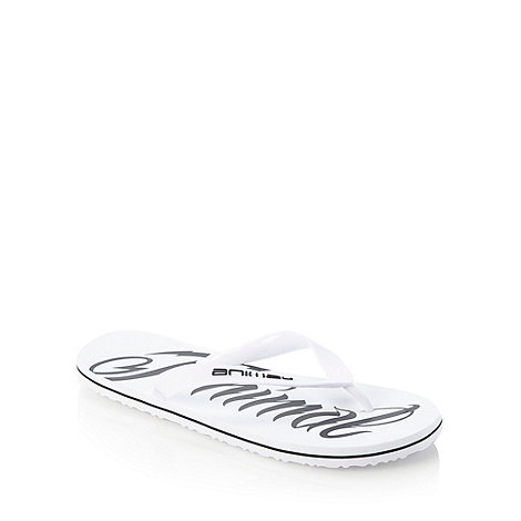 Animal - White logo printed flip flops