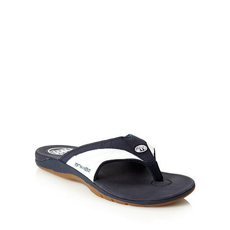 Animal - Navy padded strapped flip flops