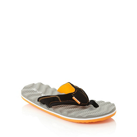 Animal - Dark grey ripple textured flip flops